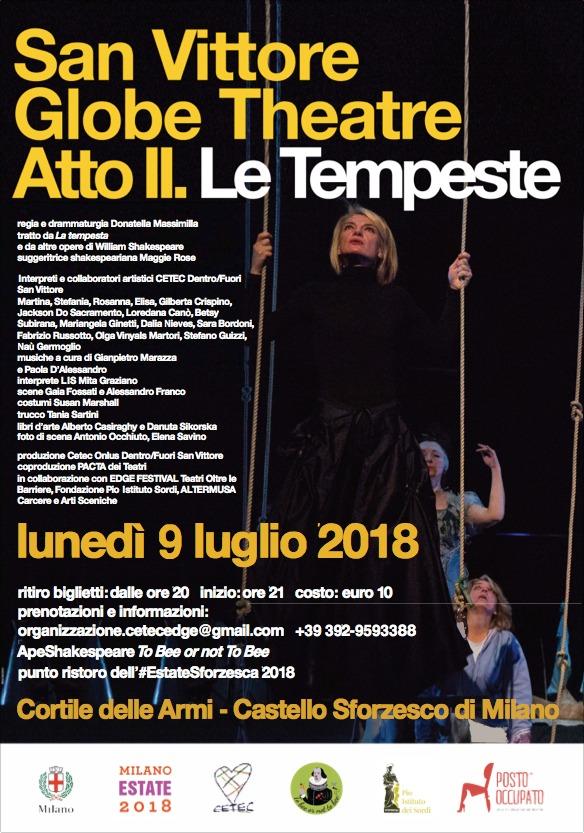 San Vittore Globe Theatre Atto II. Le Tempeste